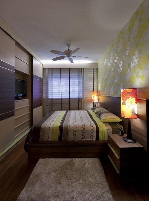 Правильное расположение в узкой комнате
