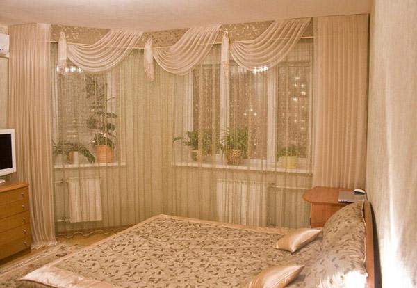 Штора для бежевой спальни