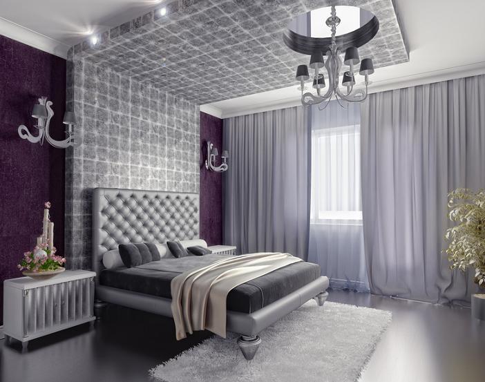 Модные тенденции при оформлении спальни обоями