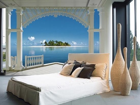 Вид на море в спальне