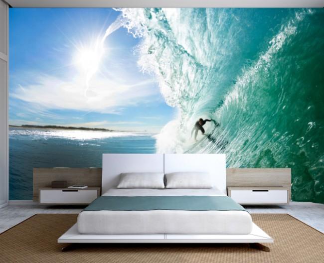 Спальня с морскими волнами