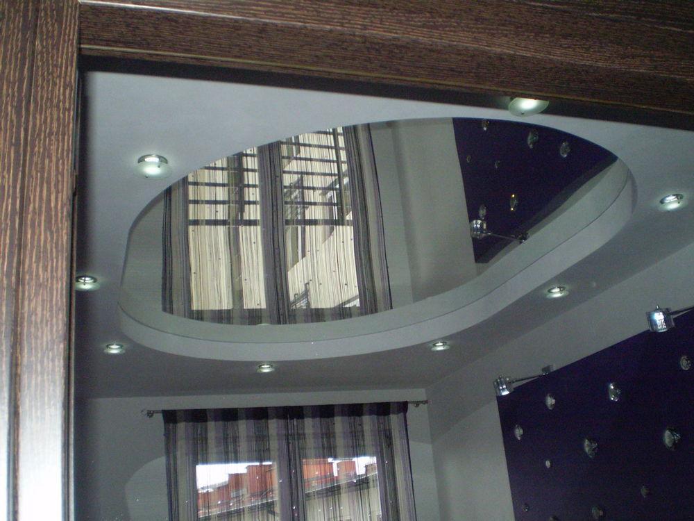 Спальня с зеркальным потолком