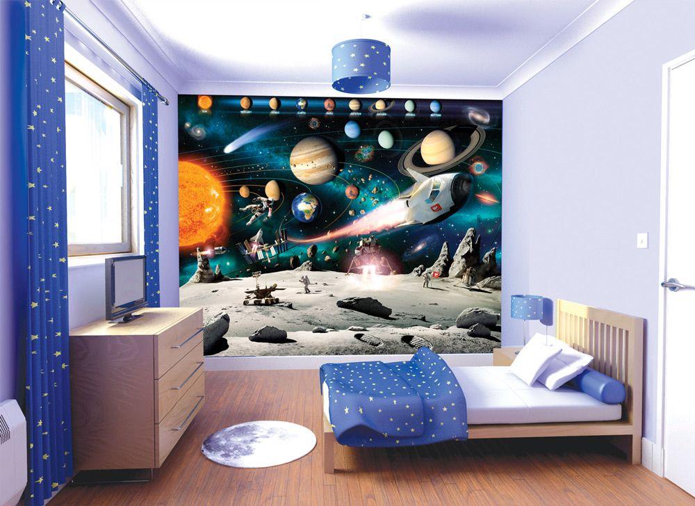 Спальня в космической тематике