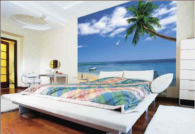 Морской пейзаж в спальне