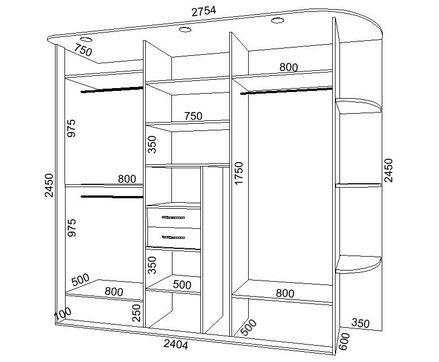 Встроенный шкаф своими руками чертежи и схемы фото