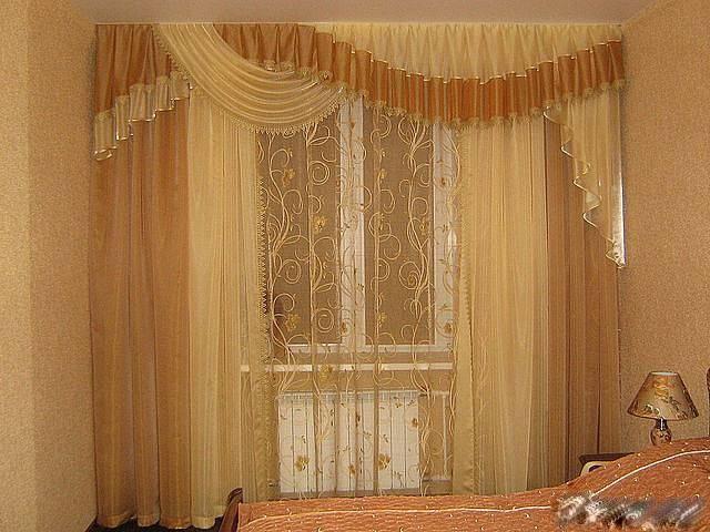 Лучшие шторы в спальню с ламбрекеном фото подборка лучших решений
