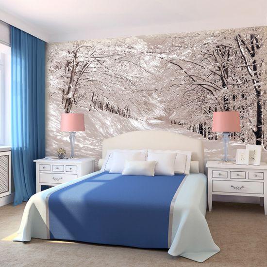 Зимний пейзаж в спальне