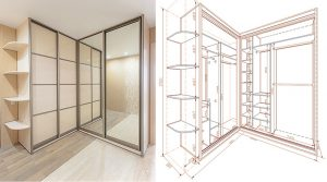 Наглядная схема шкафа с размерами