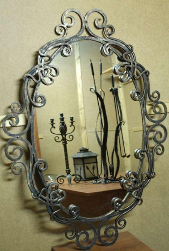 Элементы ковки для зеркала в спальню