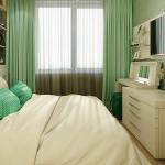 Аккуратный и красивый комод в интерьере спальни