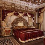 Бархат для создания спальни в стиле ампир