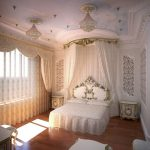 Богатый стиль барокко для спальни