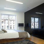 Черная спальня в стиле модерн