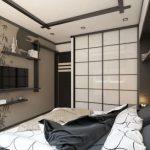Черты японского стиля в спальне