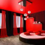 Декор спальни в красном цвете