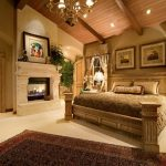Деревенский стиль кантри в спальне
