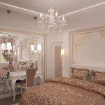 Дизайн иньерьера спальни с чертами стиля ампир