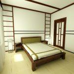 Дизайн интерьера спальни на основе японского стиля