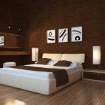 Дизайн интерьера спальни в коричневых тонах