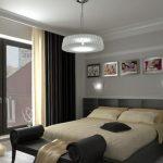Дизайн красивой спальни в серых оттенках