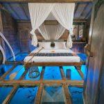 Дизайн спальни с аквариумом