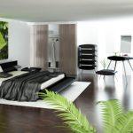 Дизайн спальни в технологичном стиле хай-тек
