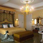 Дизайн спальной комнаты в стиле ампир