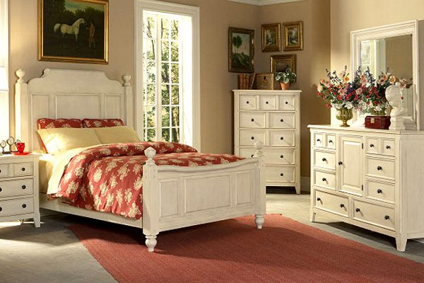 Элементы стиля кантри в спальне