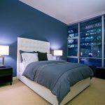 Глубокий эффект синей спальни