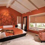 Глубокий оранжевый как доминирующий цвет в интерьере