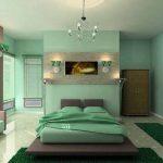 Холодный оттенок зеленого для спальни