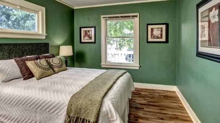 Хвойный зеленый цвет для дизайна спальни