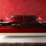 Идея дизайна красной спальни