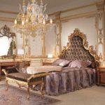 Идея для создания спальни в стиле интерьера барокко