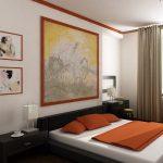 Интерьер спальни, созданный в японском стиле
