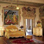 Интерьер спальни в совершенном стиле ренессанс