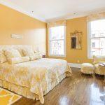 Использование желтого цвета для спальни