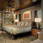 Как оформить коричневую спальню