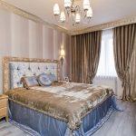 Как создать барокко стиль в просторной спальни