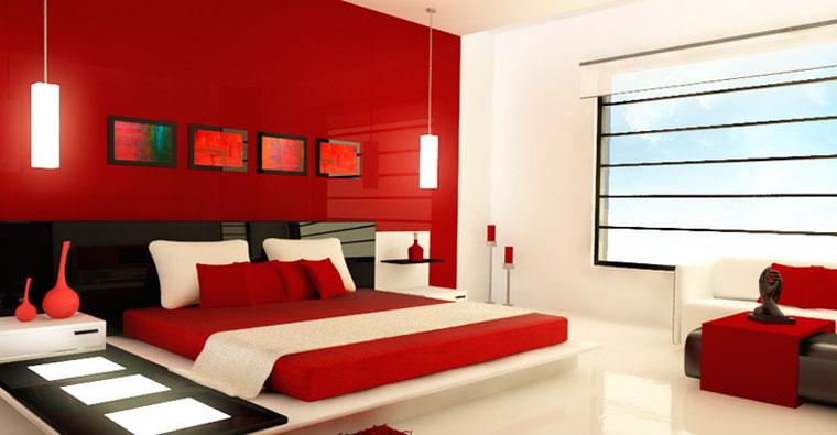 Фото дизайн маленьких комнат в красном цвете