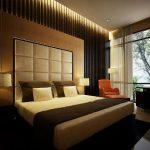 Коричневый цвет даелат спальню более стильной