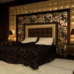 Коричневый цвет для офорлмения спальни