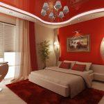 Красивая красная спальня