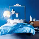 Красивая синяя спальня для девушки