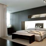 Красивая спальня в стиле хай-тек