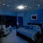 Красивое звездное небо в спальне