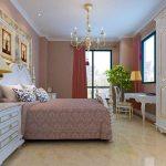 Красивый пробковый пол для обустройства спальни
