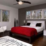 Красные цвета в интерьере спальни