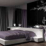 Модная черная спальня