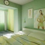Мятный зеленый цвет для спальни